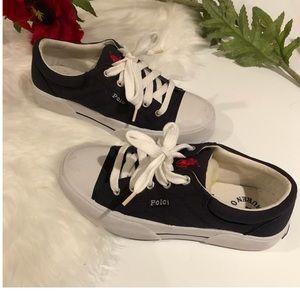 Vintage Polo Navy Sneakers NWOT, Unworn